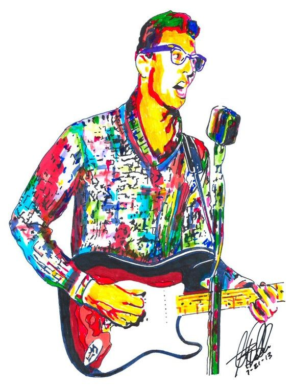 Buddy Holly Poster, seen on Etsy