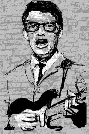 Buddy Holly, seen on Jazz And Draw, unknown artist