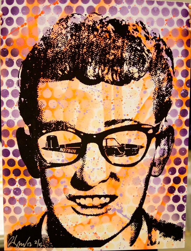 Buddy Holly Rene Gagnon-Screenprint, seen on Trampt Library