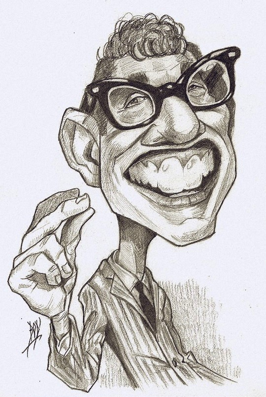 Seen On Les Caricatures De BOD' - Buddy Holly