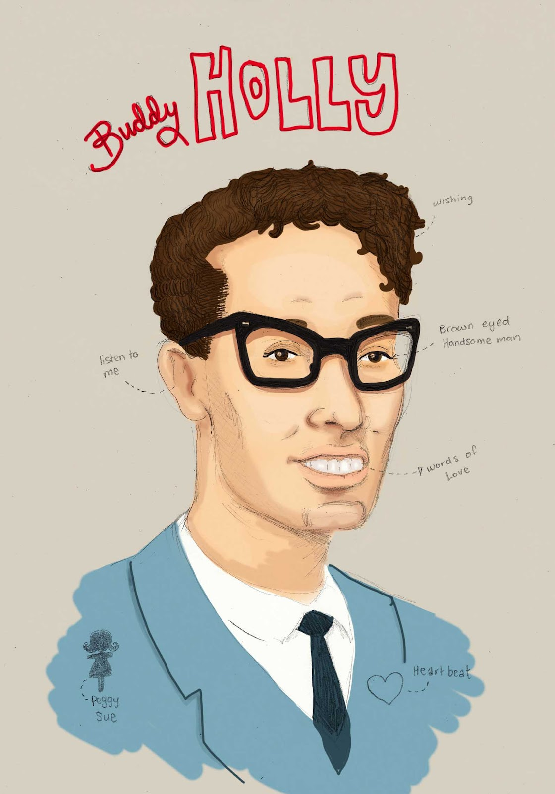 Buddy Holly - Nic Laswons Illustration And Comic Blog