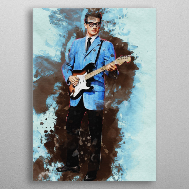 Smudge Buddy Holly Music Poster - Print On Displate