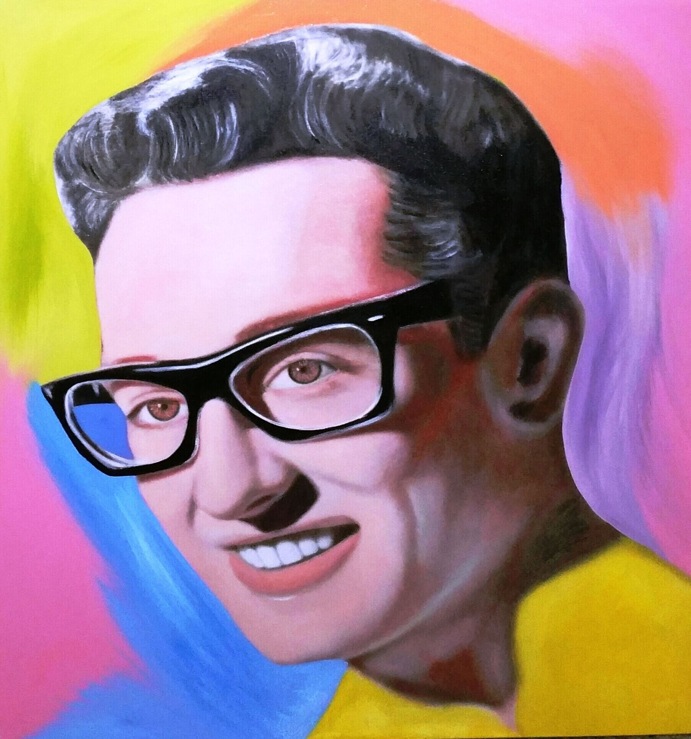 Buddy Holly Special Unique By Steve Kaufman Pop Art