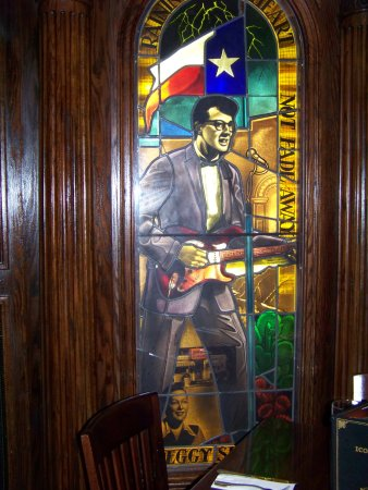 Buddy Holly Stained Glass Window San Antonio TX as seen on TripAdvisor