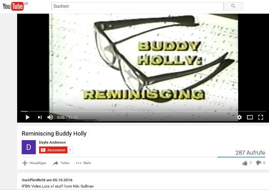Buddy Holly Reminiscing 1980