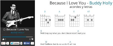 "Chords and lyrics ""BECAUSE I LOVE YOU"""