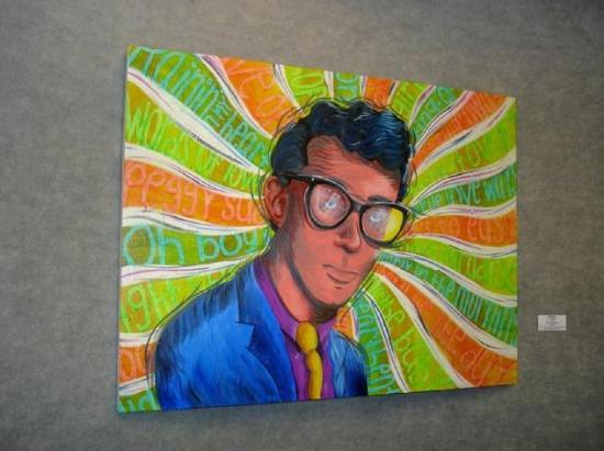 A Jim Barton Buddy Holly Painting