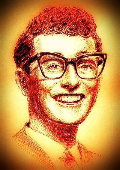 Buddy Holly Painting