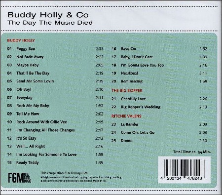 BUDDY HOLLY & CO - THE DAY THE MUSIC DIED