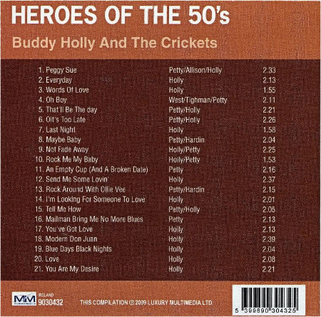 HEROES OF THE 50's - BUDDY HOLLY