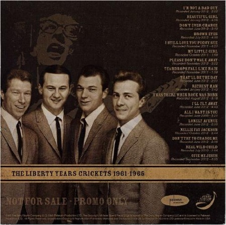 50th Anniversary Tribute - Jerry Naylor - The Rockabilly Legends -THE LIBERTY YEARS - CRICKETS 1961 - 1965