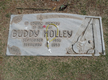 Buddy's grave in April 2009