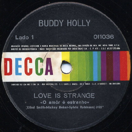 BUDDY HOLLY Love is strange DO BRASIL