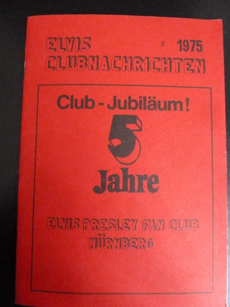 ELVIS PRESLEY FAN CLUB NUREMBERG GERMANY, Issue 2 - 1975