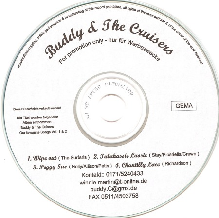 PEGGY SUE on Buddy & The Cruisers' Promo CD