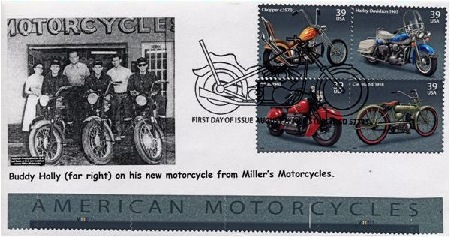 USA First Day Cover of motor cycle stamps