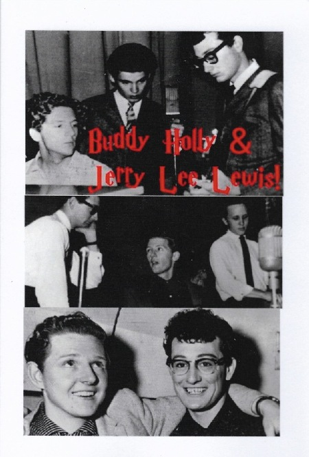 Buddy Holly & Jerry Lee Lewis  (No author credited)  ISBN 9781985670976  Printed in Great Britain by Amazon