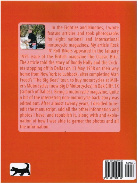 Buddy Holly's Britbike by D. Larry Patterson printed in Great Britain by Amazon  2013  ISBN 9781514355190