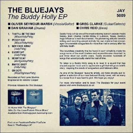 THE_BLUEJAYS - THE_BUDDY_HOLLY_EP