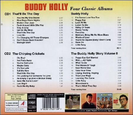 BUDDY HOLLY - FOUR CLASSIC ALBUMS