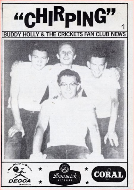 BUDDY HOLLY & THE CRICKETS FAN CLUB MAG