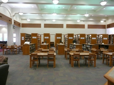Library - used to be the Gym - Lubbock High School 2009