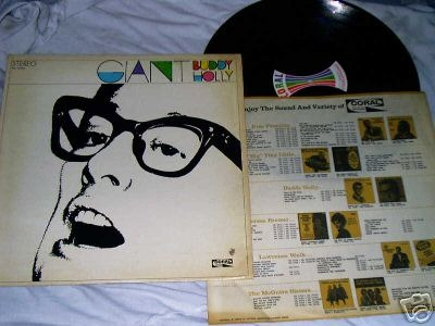 USA 1969 LP GIANT BUDDY HOLLY ON CORAL