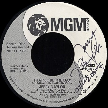 THAT'LL BE THE DAY - Jerry Naylor
