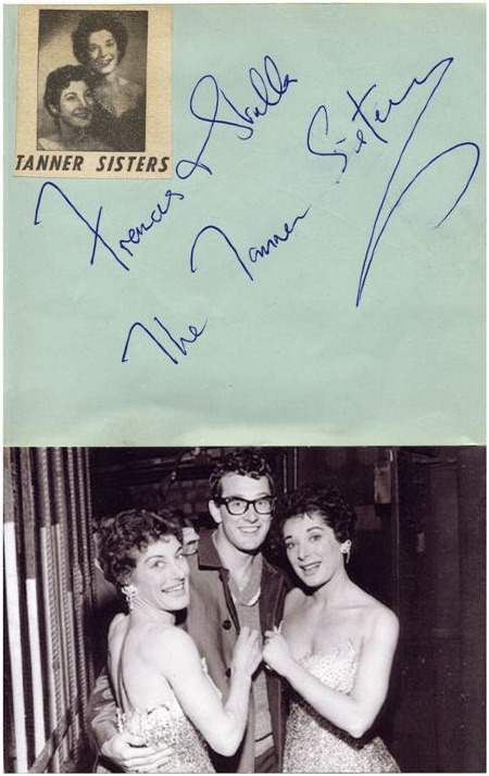 The Tanner Sisters, part of Buddy's March 1958 UK tour