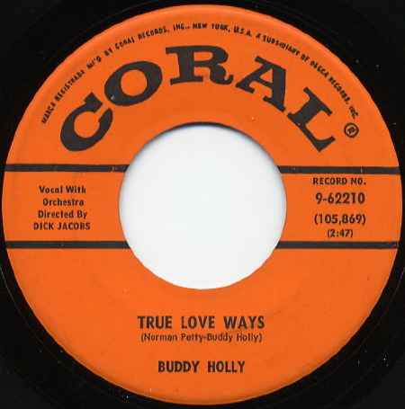 TRUE LOVE WAYS Buddy Holly