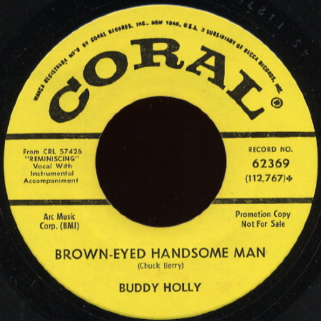 BUDDY HOLLY Brown - eyed handsome man