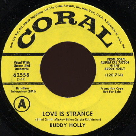 LOVE IS STRANGE Buddy Holly