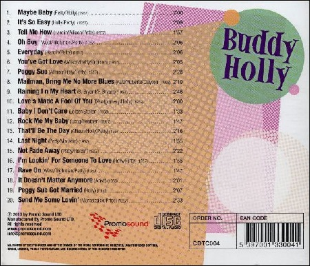 Twentieth Century Rock & Roll Artists - BUDDY HOLLY