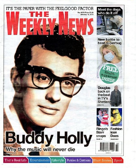 BUDDY HOLLY -  THE WEEKLY NEWS
